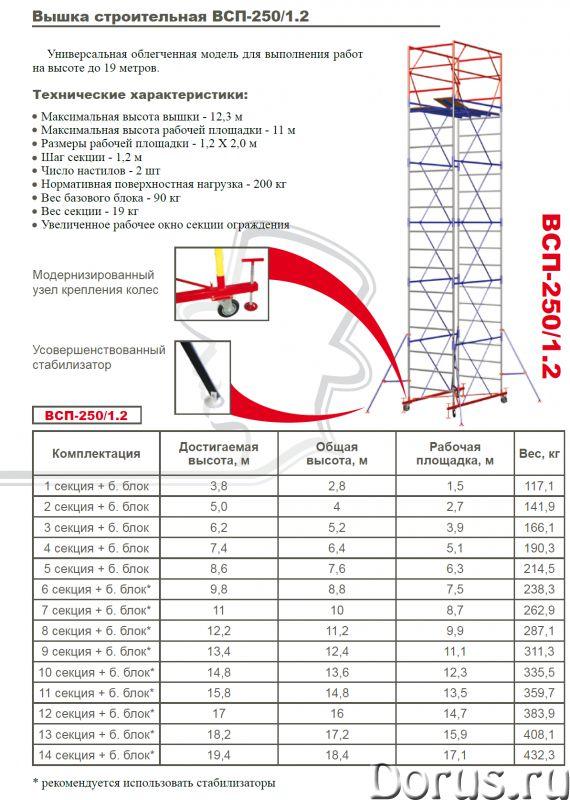 Вышку-тура помост малярный - Строительное оборудование - Продаю вышки - тура ВСП-250 Формат площадки..., фото 3